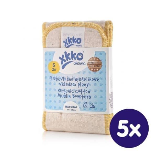 xkko Organic Old Times Muslin Booster 2er-Set Gr. S