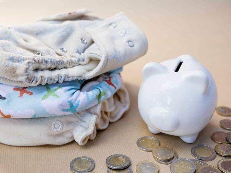 Stoffwindeln und Spardose